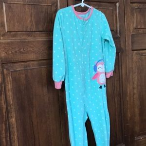 Cozy footie jammies, Carter's size 5